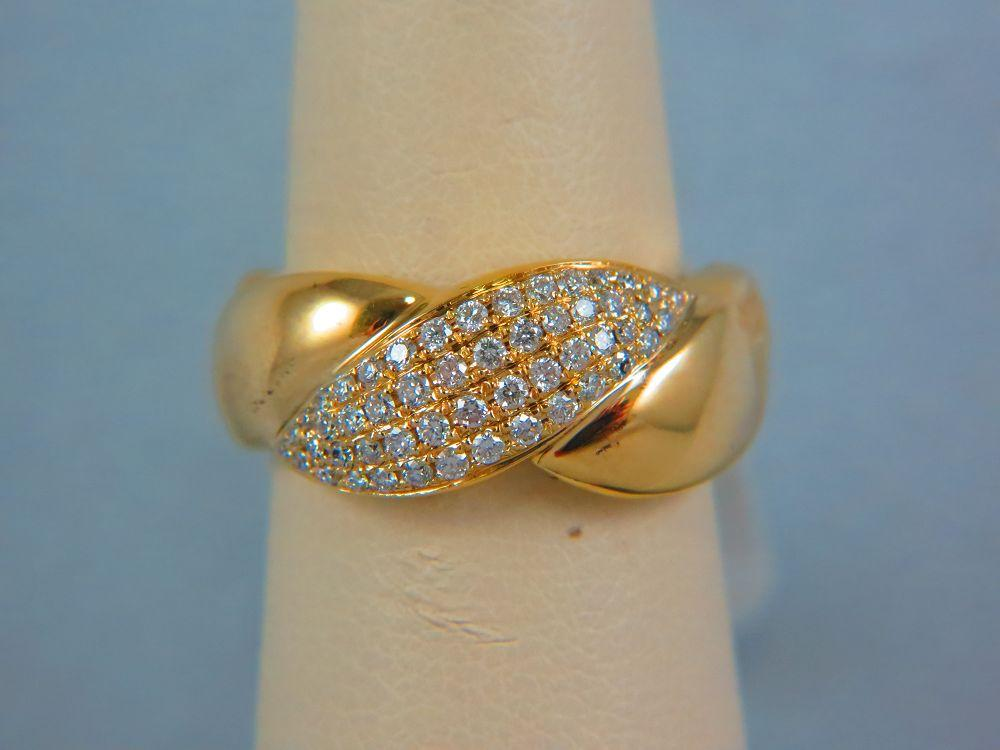 14K Yellow Gold Ladies Diamond Ring