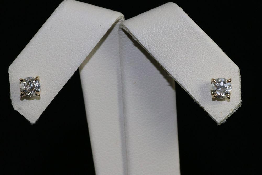14K Yellow Gold OMC Diamond Studs