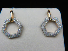 Load image into Gallery viewer, 14K Yellow Gold Diamond Earrings