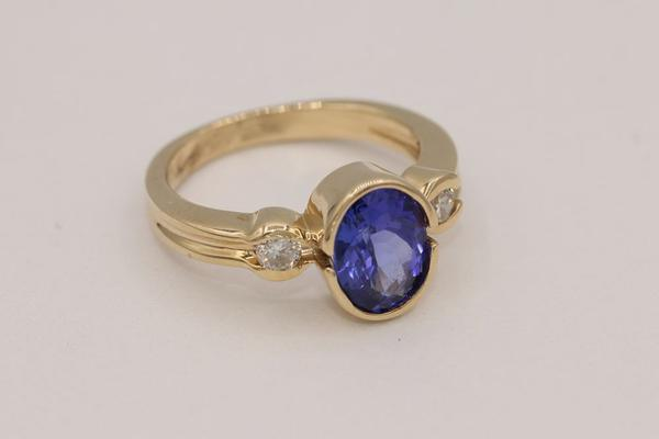 Yellow Gold Tanzanite Ring