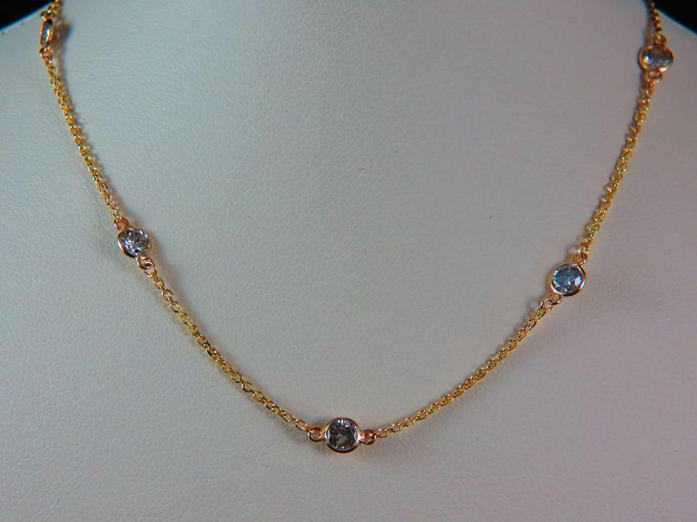 14K Yellow Gold Diamond by the Yard Necklace