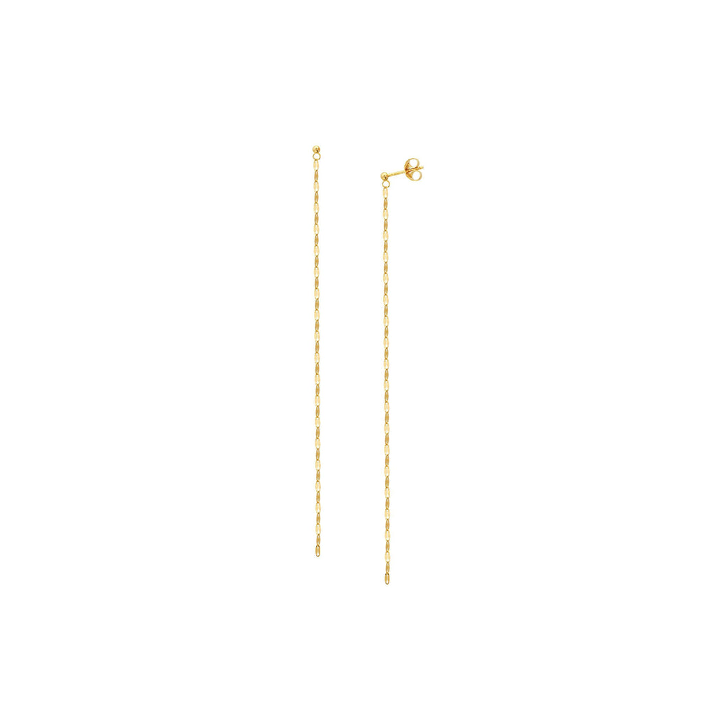 14K Gold Chain drop Earrings