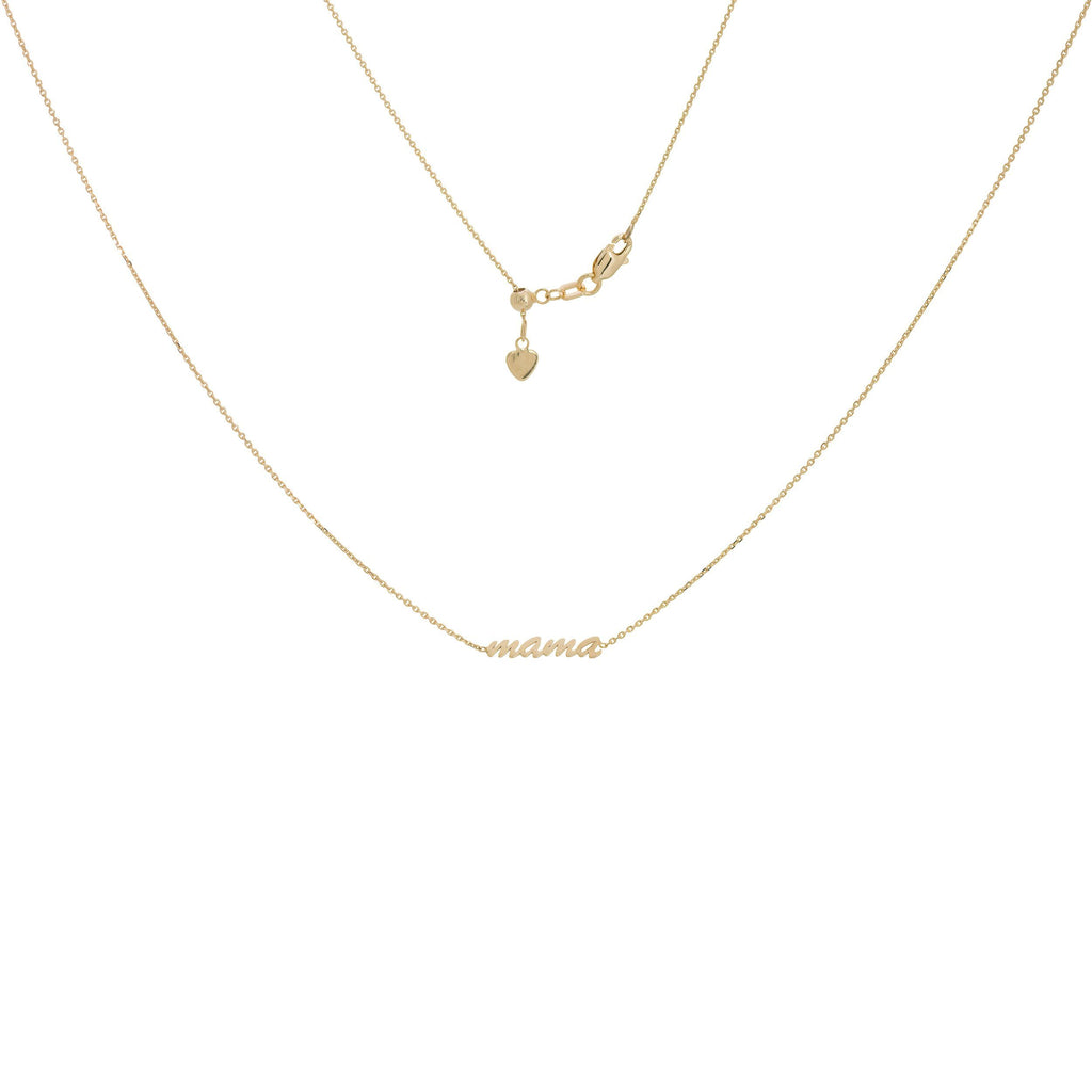 "14K Yellow Gold ""Mama"" Adjustable Choker"
