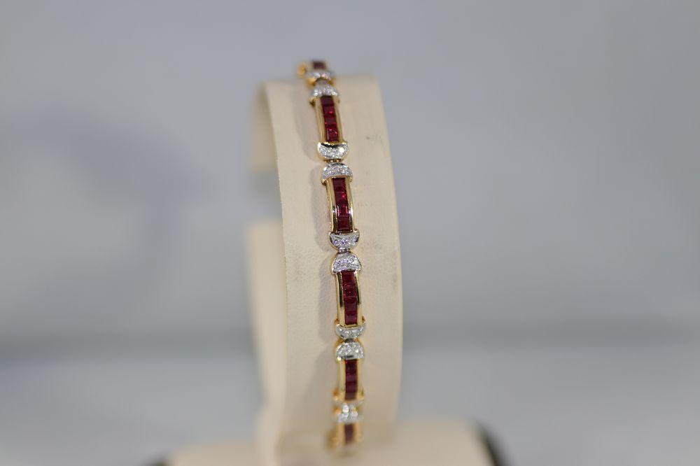 Ruby Bracelet with Diamonds
