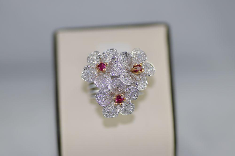 Diamond Flower Ring