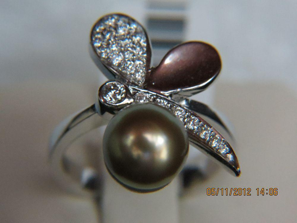 Diamond and Pearl Ring