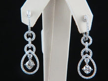 Load image into Gallery viewer, 18K White Gold Diamond Earrings