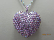 Load image into Gallery viewer, Pink Sapphire Heart Pendant