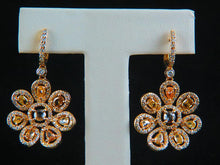 Load image into Gallery viewer, 18K Yellow Gold Diamond Earrings