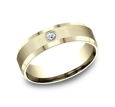 6mm Yellow Gold Men's Wedding Ring