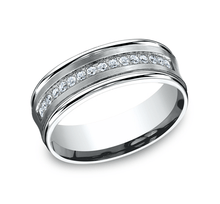 Load image into Gallery viewer, 7.5mm White Gold Men's Wedding Band