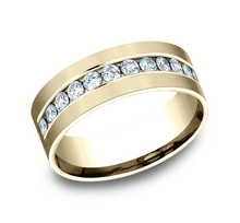 Load image into Gallery viewer, 8mm Yellow Gold Men's Wedding Band