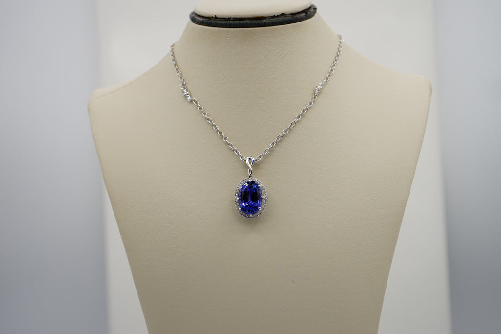 Diamond Tanzanite Pendant