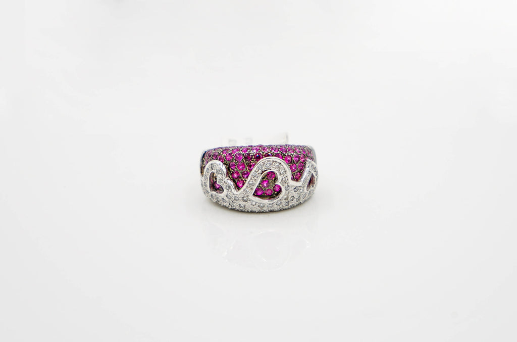 White Gold Ruby Le Vian Ring