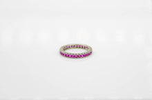 Load image into Gallery viewer, White Gold Ruby Eternity Band