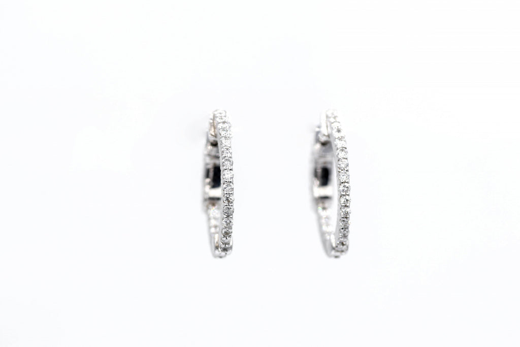 White Gold In/Out Diamond earrings