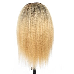 Brazilian Kinky Straight Lace Front Wig Ombre Short Human Hair