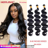 "Brazilian Hair Body Wave Bundles 8-40"" Mixed Long Hair"