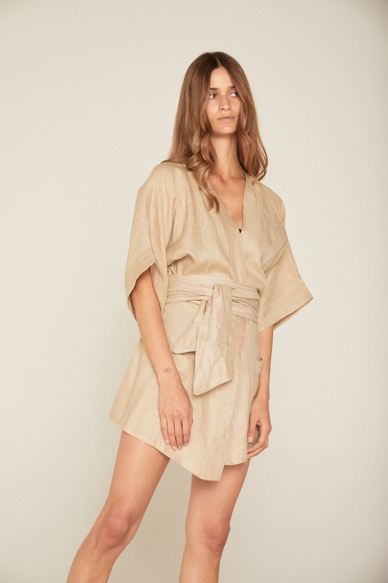 SUMMER LILLY LINEN ROBE