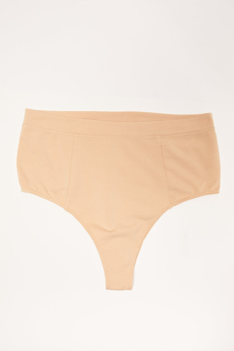 ZARI ORGANIC COTTON HIGH CUT CHEEKY BRIEF SAMPLE