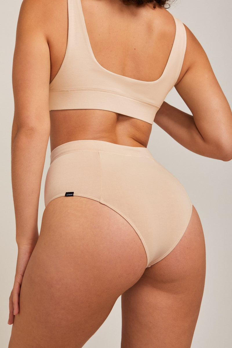 ZARI ORGANIC COTTON HIGH CUT CHEEKY BRIEF