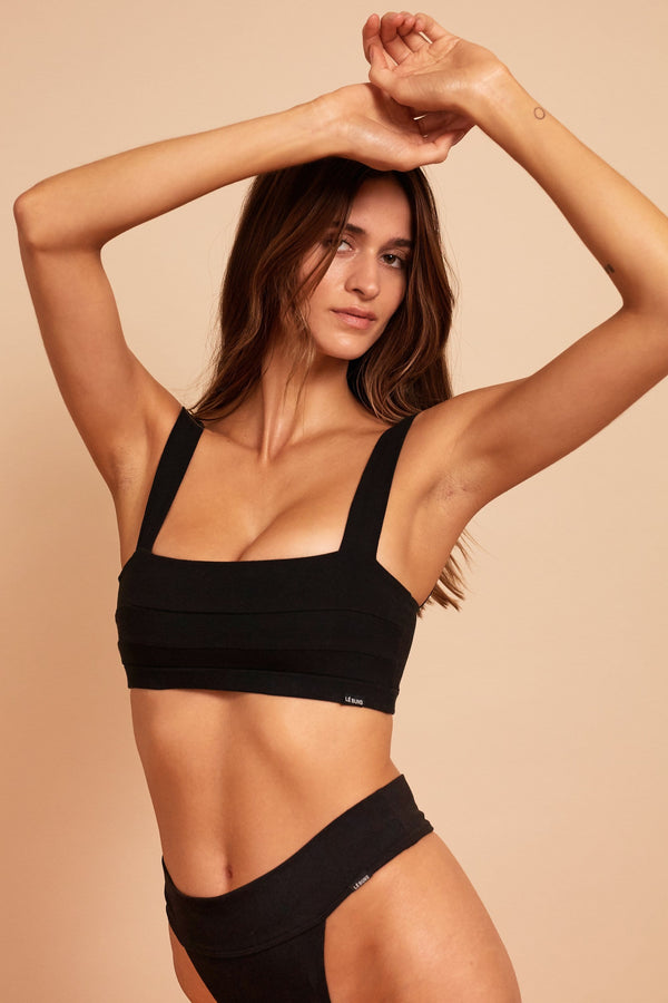 GIA ORGANIC COTTON SQUARE CUT BRALETTE