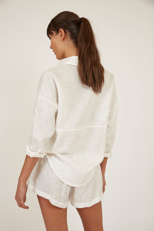 WILLOW BUTTON UP LINEN SHIRT