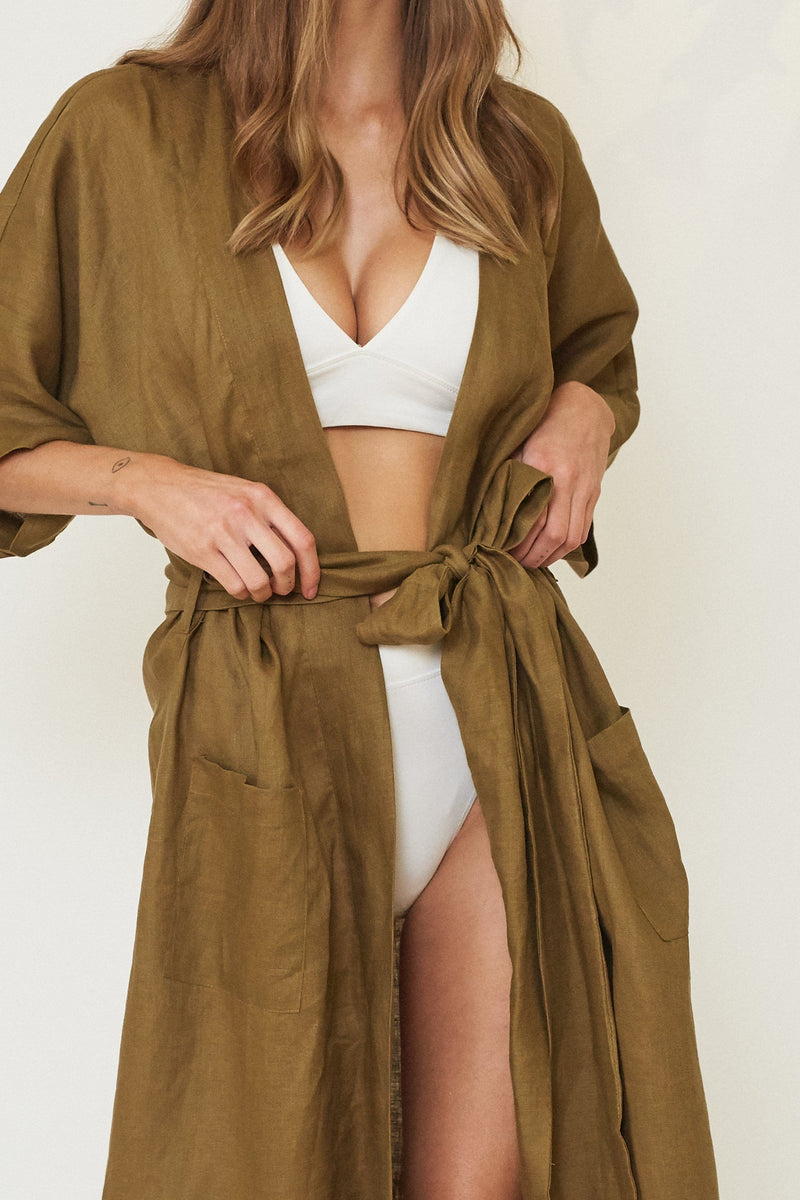 LILLY LINEN ROBE