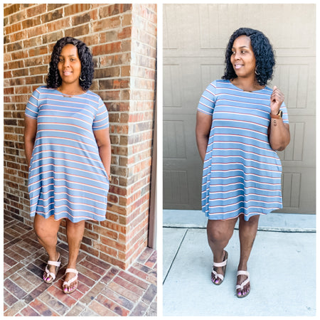 Ally Stripe Dress