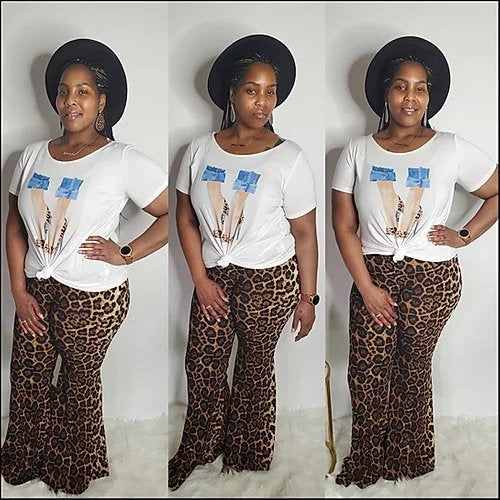 Cheetah Print Flare Pants