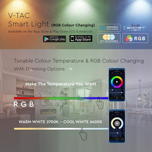 V-TAC LAMPADINA LED WI-FI GU10 4,5W FARETTO SPOTLIGHT 110° RGB+W 4IN1 DIMMERABILE