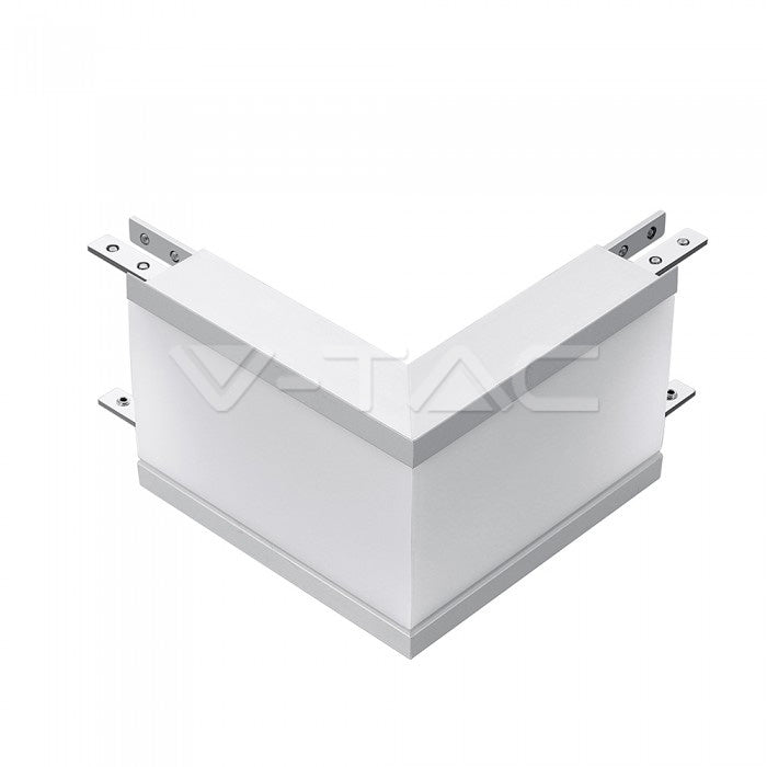 V-TAC COPPIA DI LAMPADE LED RACCORDO A INCASSO LINEAR LIGHT 10W CHIP SAMSUNG WHITE BODY
