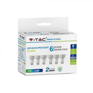 V-TAC LAMPADINA LED GU10 6,5W FARETTO SPOTLIGHT CHIP SAMSUNG 110°