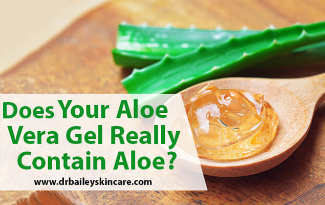 Does Your Aloe Vera Gel Really Contain Aloe?