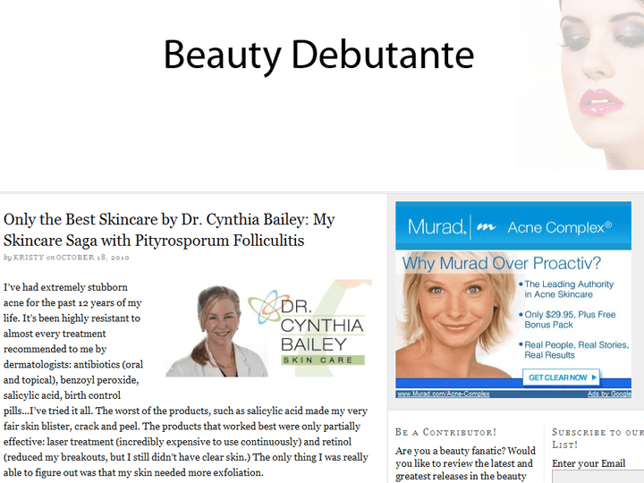 OTBSkinCare Featured On BeautyDebutante.com!