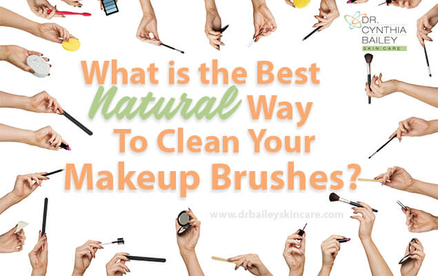 Cleaning makeup brushes with natural cleaner