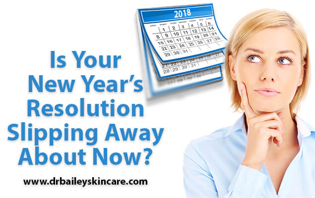 Is Your New Year's Resolution Slipping Away About Now?