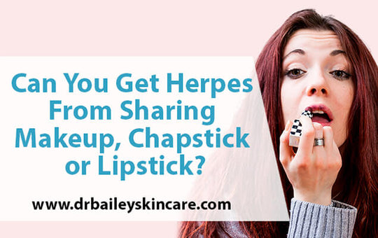 can you get herpes from sharing makeup
