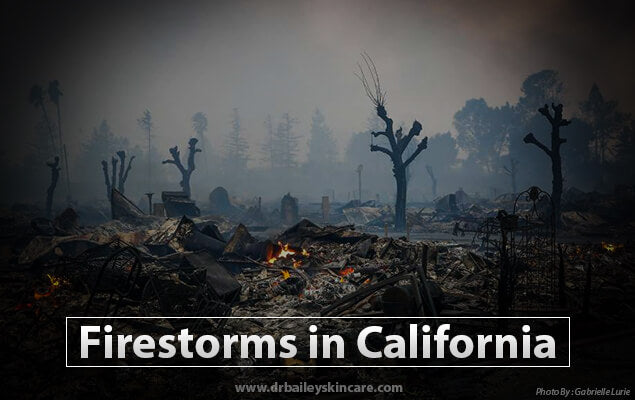 Firestorms in California