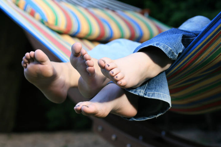 summer foot care for rough feet
