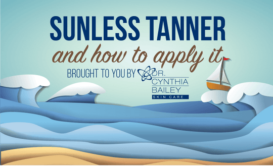 sunless tanner and how to apply it