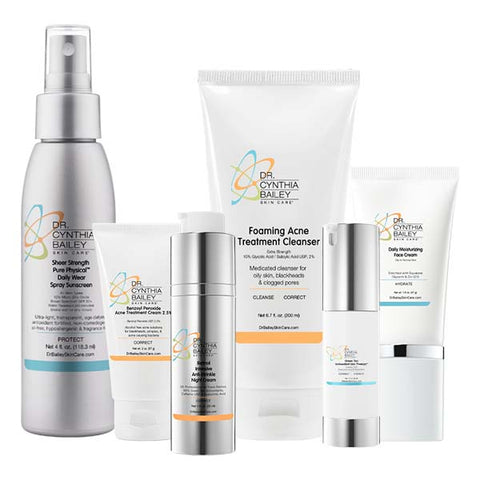 Adult female acne and anti aging skin care kit