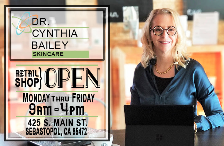 Dr. Bailey Skin Care Retail Store in Sebastopol Sonoma County California