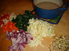 Soup ingredients for deetox cleansing fast