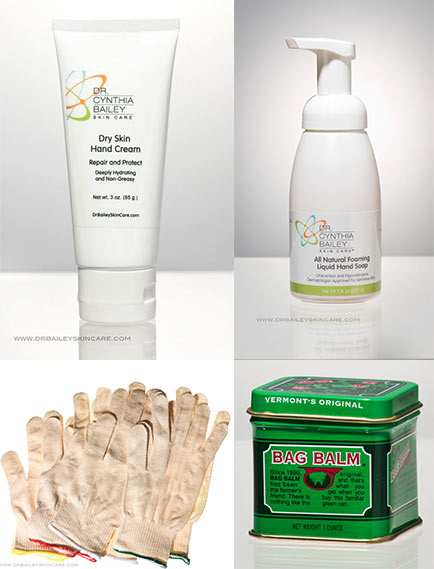 doctor's kit to heal severely dry and cracked hands