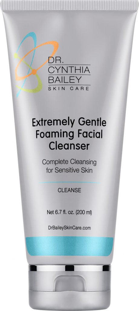 Extremely gentle pH balanced facial cleanser helps to safely wash your skin.
