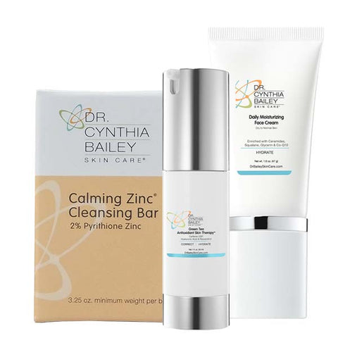 facial flaking and redness solution kit for maskne