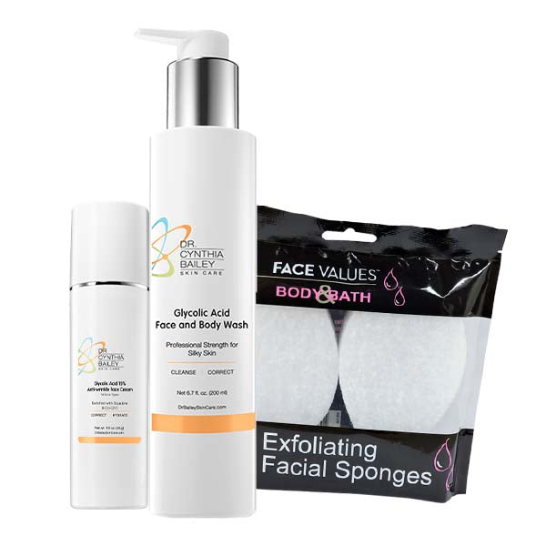 glycolic acid facial kit to fight dark spots and hyperpigmentation