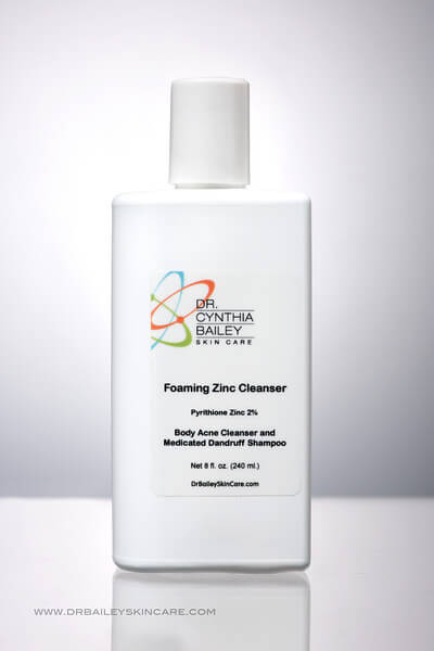 foaming zinc cleanser best for back acne