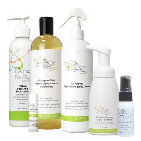 natural and non-toxic dermatologist approved fragrance free products for family